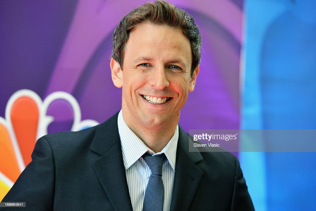 Actor Seth Meyers attends 2013 NBC Upfront Presentation Red Carpet Event at Radio City Music Hall on May 13, 2013 in New York City.