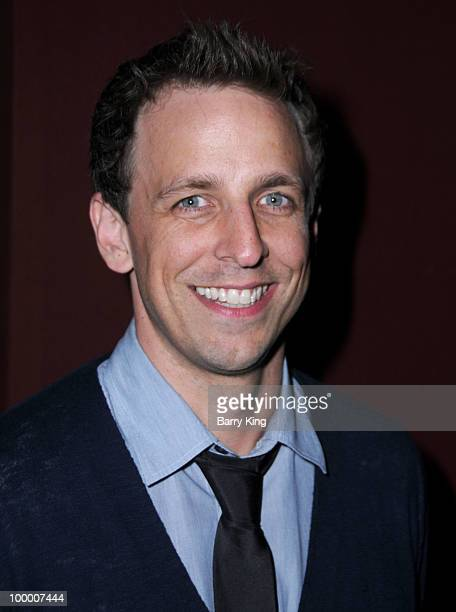Actor Seth Meyers attends the reception for NBC's Parks and Recreation Emmy Screening held at the Leonard H Goldenson Theatre on May 19 2010 in North...