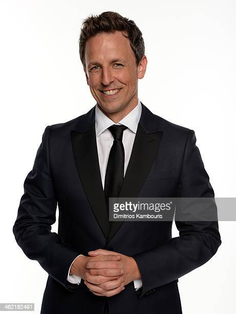 Actor Seth Meyers poses for a portrait during the 71st Annual Golden Globe Awards held at The Beverly Hilton Hotel on January 12 2014 in Beverly...