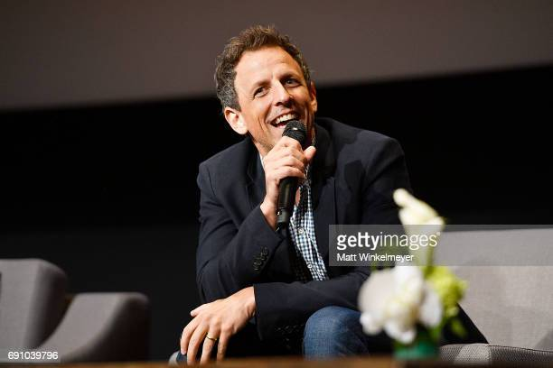 Actor Seth Meyers speaks onstage during the FYC event for IFC's 'Brockmire' and 'Documentary Now' at Saban Media Center on May 31 2017 in North...
