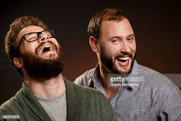 Actor Seth Rogen and director Evan Goldbeg are photographed for Los Angeles Times on November 25 2014 in Beverly Hills California PUBLISHED IMAGE...