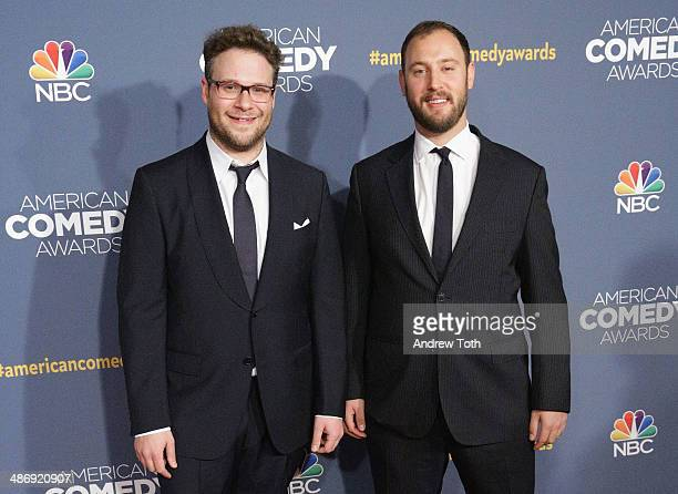 Actor Seth Rogen and director Evan Goldberg attend the 2014 American Comedy Awards at Hammerstein Ballroom on April 26 2014 in New York City