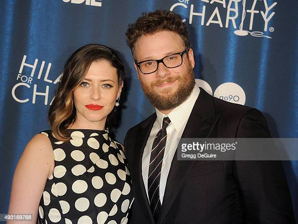 Actor Seth Rogen and Lauren Miller arrive at Hilarity For Charity's 4th Annual Variety Show at Hollywood Palladium on October 17 2015 in Los Angeles...