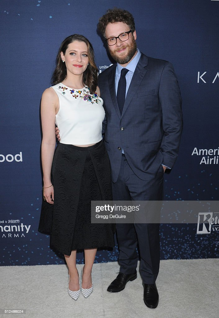 Actor Seth Rogen and Lauren Miller arrive at the 3rd Annual unite4:humanity at Montage Hotel on February 25, 2016 in Beverly Hills, California.