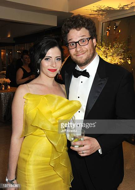 Actor Seth Rogen and wife Lauren Miller attend HBO's Official After Party for the 69th Annual Golden Globe Awards held at The Beverly Hilton hotel on...
