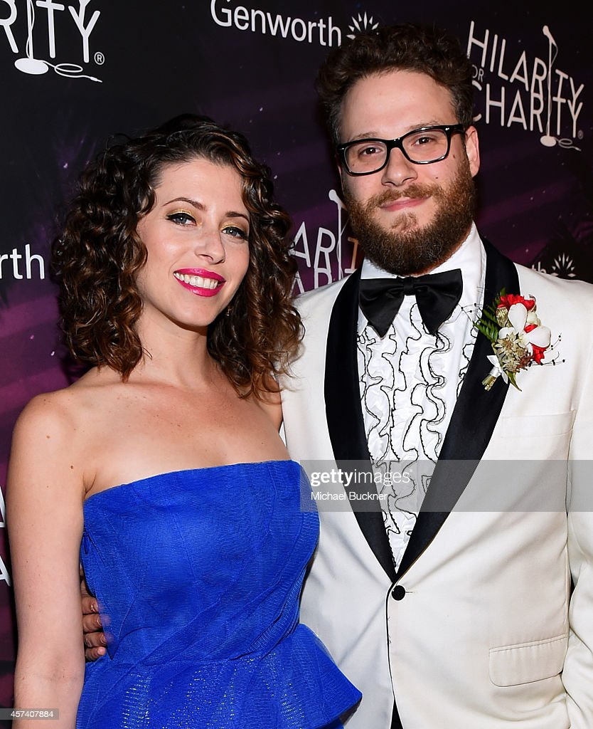 Actor Seth Rogen (R) and wife Lauren Miller attends the 3rd Annual Hilarity for Charity Variety Show to benefit the Alzheimer's Association, presented by Genworth, at Hollywood Palladium on October 17, 2014 in Hollywood, California.