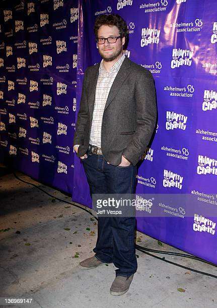"""Actor Seth Rogen arrives at """"Hilarity For Charity"""" To Benefit The Alzheimer's Association at Vibiana on January 13, 2012 in Los Angeles, California."""