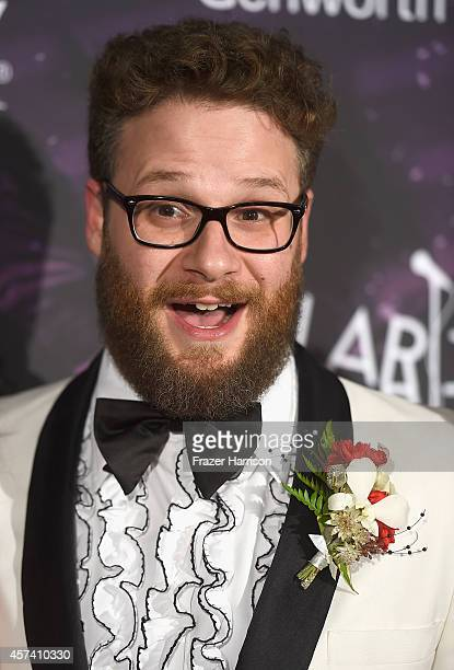 Actor Seth Rogen arrives at the 3rd Annual Los Angeles Hilarity for Charity Variety Show at Hollywood Palladium on October 17 2014 in Hollywood...