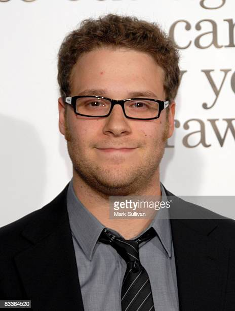 Actor Seth Rogen arrives at the Los Angeles Premiere of Zack And Miri Make A Porno at the Grauman's Chinese Theater on October 20 2008 in Hollywood...