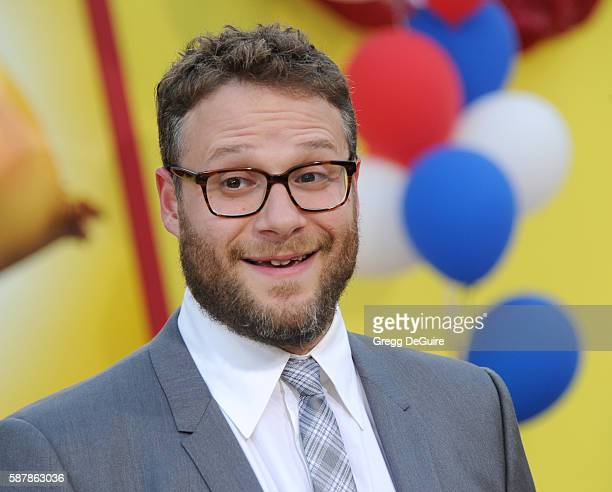 Actor Seth Rogen arrives at the premiere of Sony's 'Sausage Party' at Regency Village Theatre on August 9 2016 in Westwood California