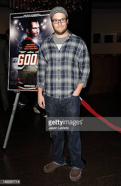 Actor Seth Rogen attends a screening of 'Goon' at DGA Theater on February 29 2012 in Los Angeles California