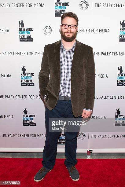 Actor Seth Rogen attends the 'Id Isn't Always Pretty An Evening With Broad City' Panel Discussion at The Paley Center for Media on November 9 2014 in...
