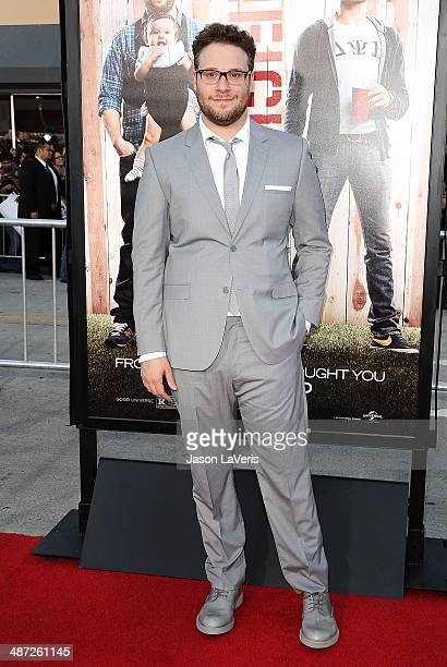 Actor Seth Rogen attends the premiere of 'Neighbors' at Regency Village Theatre on April 28 2014 in Westwood California