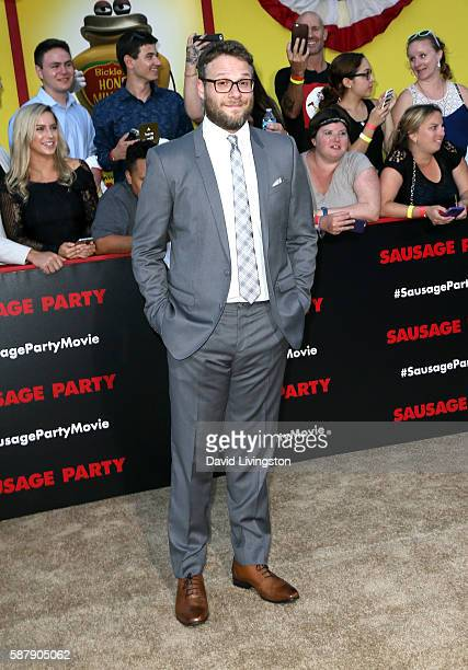 Actor Seth Rogen attends the premiere of Sony's 'Sausage Party' at Regency Village Theatre on August 9 2016 in Westwood California