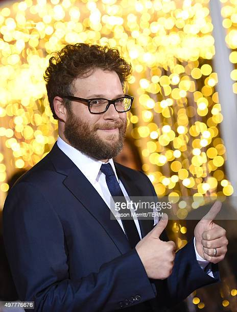 Actor Seth Rogen attends the premiere of 'The Night Before' at The Theatre At The Ace Hotel on November 18 2015 in Los Angeles California