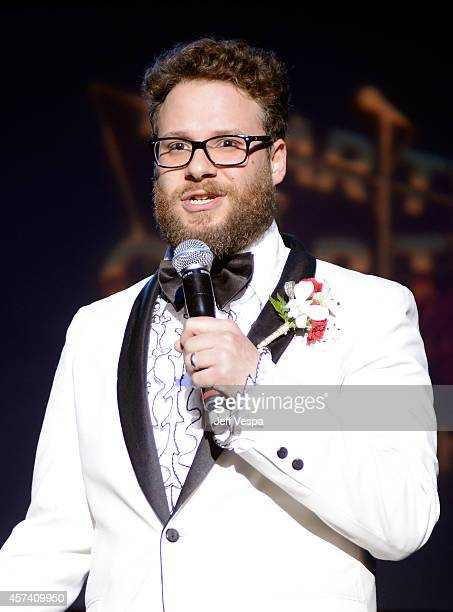 Actor Seth Rogen on stage at the 3rd Annual Hilarity for Charity Variety Show to benefit the Alzheimer's Association presented by Genworth at...