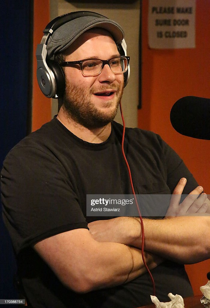 Actor Seth Rogen visits 'Sway in the Morning' on Eminem's Shade 45 channel' at SiriusXM Studios on June 12, 2013 in New York City.