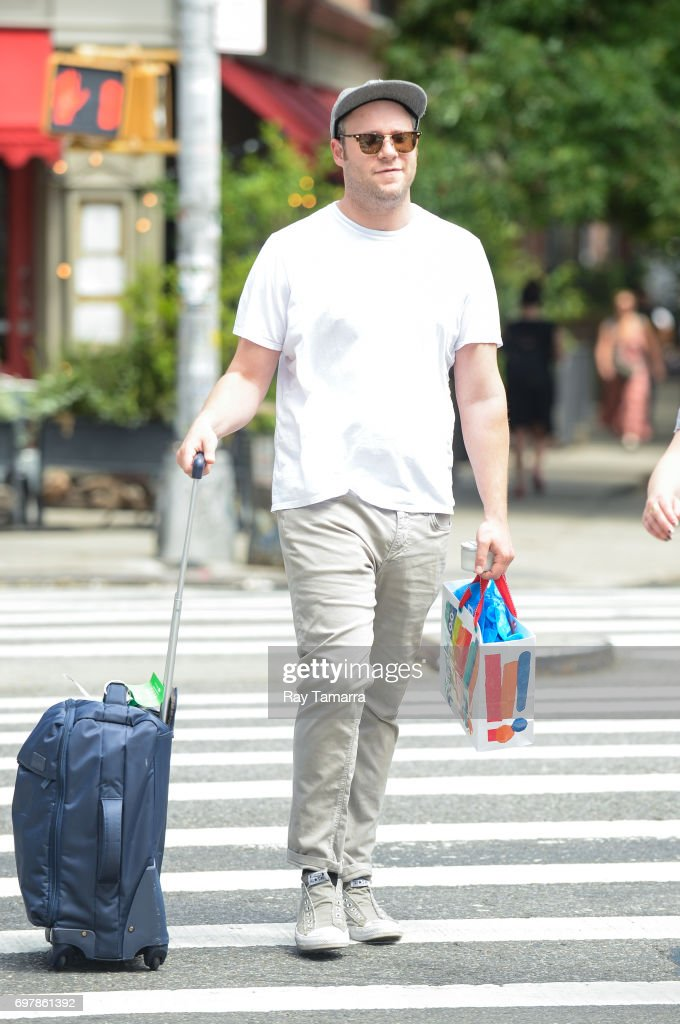 Actor Seth Rogen walks in Noho on June 19, 2017 in New York City.