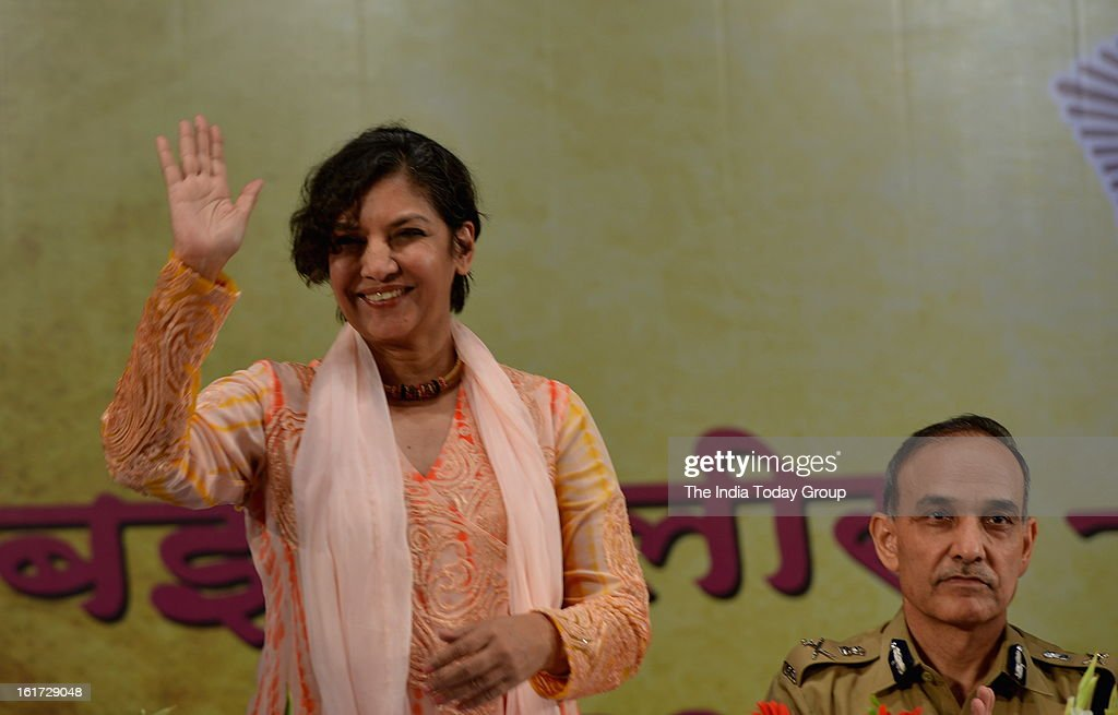 Actor Shabana Azmi at the function organised to create awareness among women as a part of the ongoing drive initiated by the Mumbai Police.