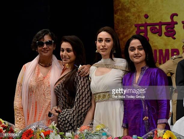 Actor Shabana Azmi Rani Mukerji Karisma Kapoor and Mrinal DevKulkarni at the function organised to create awareness among women as a part of the...