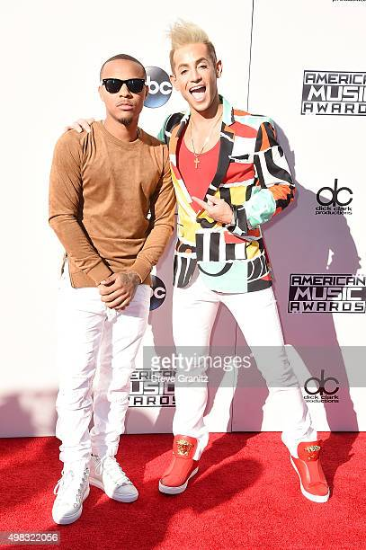 Actor Shad Moss and TV personality Frankie J Grande attend the 2015 American Music Awards at Microsoft Theater on November 22 2015 in Los Angeles...