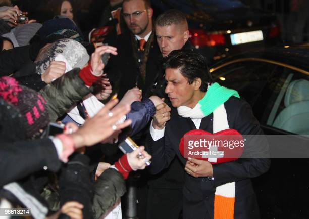 Actor Shah Rukh Khan arrives to the 'My Name Is Khan' Photocall during day two of the 60th Berlin International Film Festival at the Grand Hyatt...