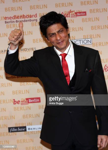 Actor Shah Rukh Khan attends a photo call for the film DON 2 at Friedrichstadtpalast on October 22 2010 in Berlin Germany The film will be shot in...