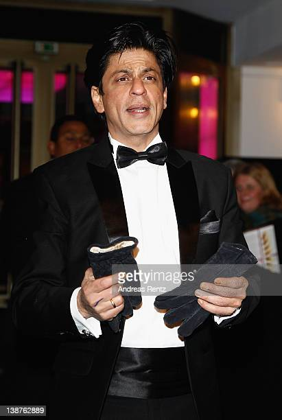 Actor Shah Rukh Khan attends the Don The King Is Back Premiere during day three of the 62nd Berlin International Film Festival at the...