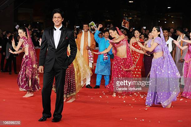 Actor Shah Rukh Khan attends the My Name Is Khan Premiere during the 5th International Rome Film Festival at Auditorium Parco Della Musica on October...