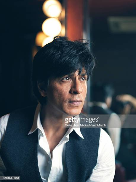 Actor Shah Rukh Khan is photographed at home in Mannat for Paris Match on October 24 2012 in Mumbai India