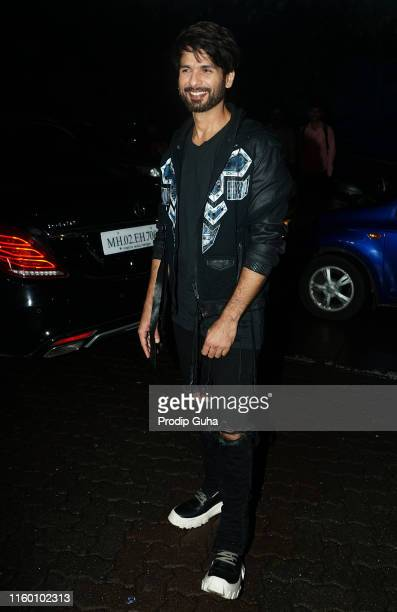Actor Shahid Kapoor attends the success party of the movie Kabir Singhon July 4 2019 in Mumbai India