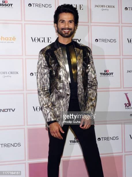 Actor Shahid Kapoor attends the Vogue Beauty Awards 2019 on September 25 2019 in Mumbai India