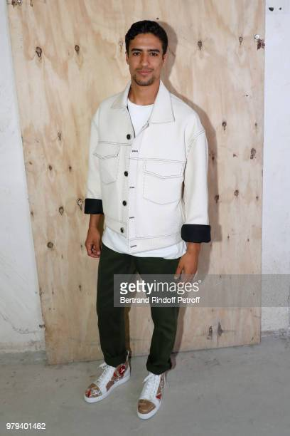 Actor Shain Boumedine attends the Acne Studio Menswear Spring/Summer 2019 show as part of Paris Fashion Week on June 20 2018 in Paris France