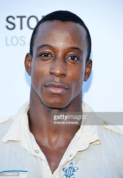 Actor Shaka Smith arrives at the Leica Store Los Angeles Grand Opening at Leica on June 20 2013 in Los Angeles California