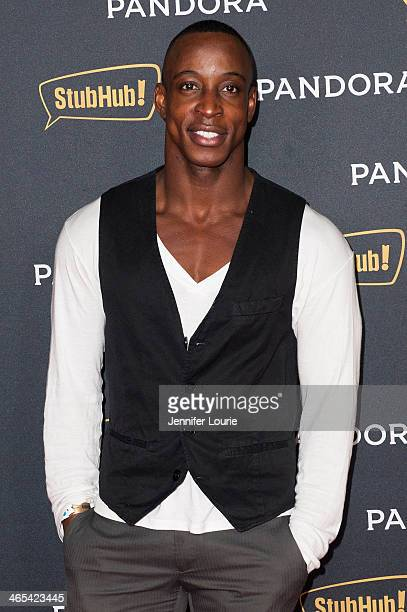 Actor Shaka Smith attends Pandora's Grammy AfterParty at Create on January 26 2014 in Hollywood California