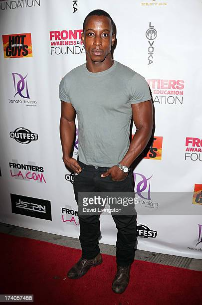 Actor Shaka Smith attends the 2013 Outfest Film Festival Hot Guys with Guns after party on July 19 2013 in Los Angeles California