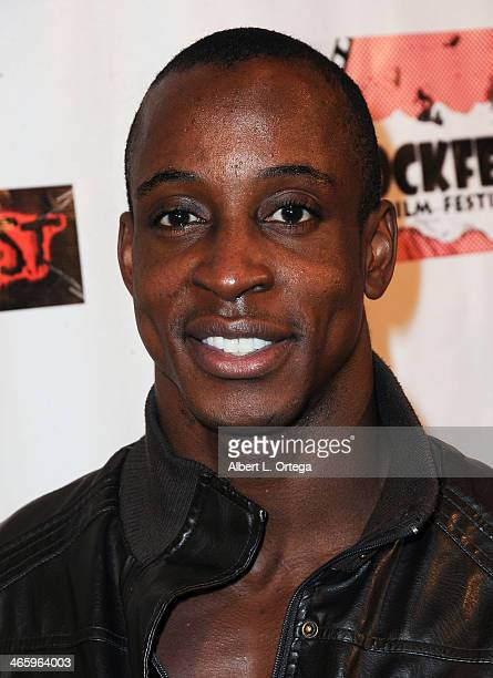 Actor Shaka Smith attends the ShockFest Film Festival Awards held at Raleigh Studios on January 11 2014 in Los Angeles California