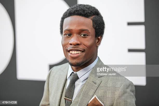 Actor Shameik Moore arrives at the Los Angeles Film Festival premiere of 'Dope' at Regal Cinemas LA Live on June 8 2015 in Los Angeles California