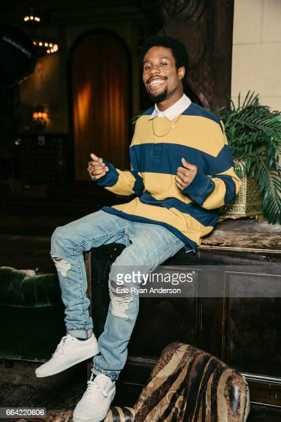 Actor Shameik Moore is photographed for The Hollywood Reporter on October 22 2016 in New York City