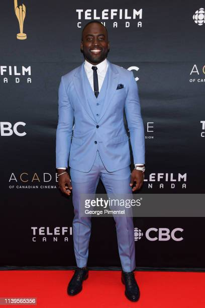 Actor Shamier Anderson attends the 2019 Canadian Screen Awards Broadcast Gala at Sony Centre for the Performing Arts on March 31 2019 in Toronto...