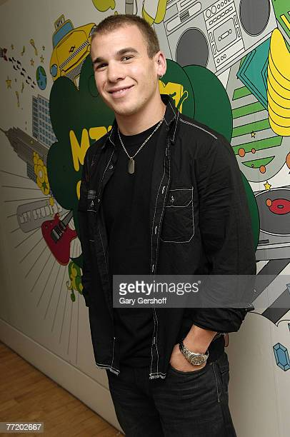 """Actor Shane Kippel of the cast of """"DeGrassi High"""" of """"DeGrassi High"""" pose for pictures while visiting MTV's """"TRL"""" at MTV Studios in Times Square on..."""