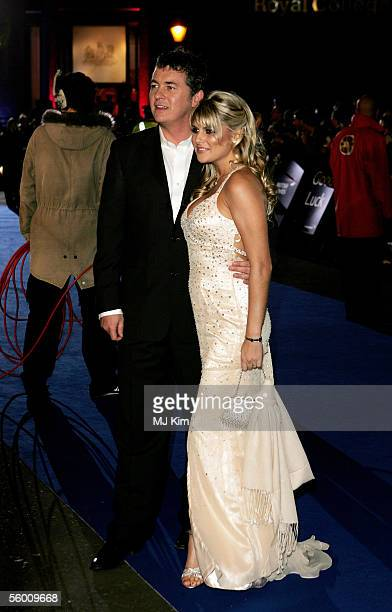 Actor Shane Richie and fiancee Christie Goddard arrive at the National Television Awards 2005 at the Royal Albert Hall on October 25 2005 in London...