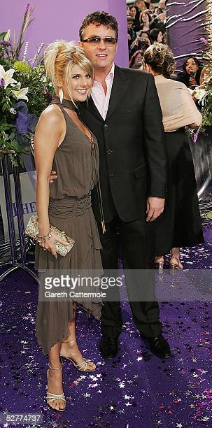 Actor Shane Richie and fiancee Christie Goddard arrive at the British Soap Awards 2005 at BBC Television Centre on May 7 2005 in London England The...