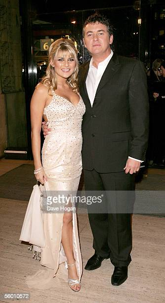 Actor Shane Richie and his partner Christie Goddard arrive for the National Television Awards 2005 at the Royal Albert Hall on October 25 2005 in...