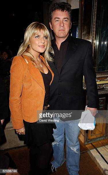 Actor Shane Richie and his wife Christie Goddard arrive at the 'Entertainers In Support Of The British Tsunami Victims' charity evening at Elysium on...