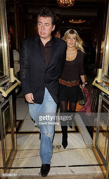Actor Shane Richie and his wife Christie Goddard leave the 'Entertainers In Support Of The British Tsunami Victims' charity evening at Elysium on...