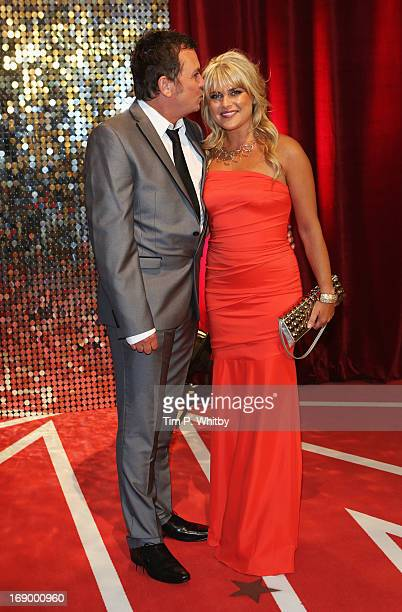 Actor Shane Richie and wife Christie Goddard attend the British Soap Awards at Media City on May 18 2013 in Manchester England
