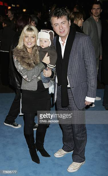 Actor Shane Richie with Christie Goddard and their baby attend the UK Premiere of the movie 'Flushed Away' held at the Empire Leicester Square on...