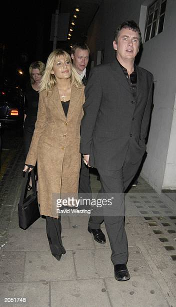 Actor Shane Ritchie and girlfriend Christie Goddard attend the opening night of 'Our House' at the Cambridge Theatre London on October 28th 2002 'Our...