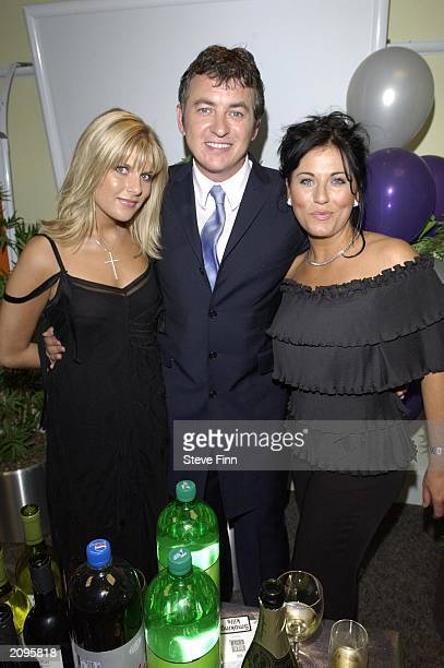 Actor Shane Ritchie girlfriend Christie Goddard and costar actress Jessie Wallace in the pressroom at the 5th Annual British Soap Awards in London on...